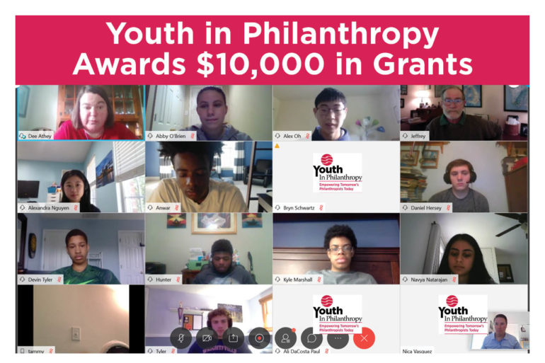 Youth in Philanthropy Program Announces COVID-19 Grant Awards