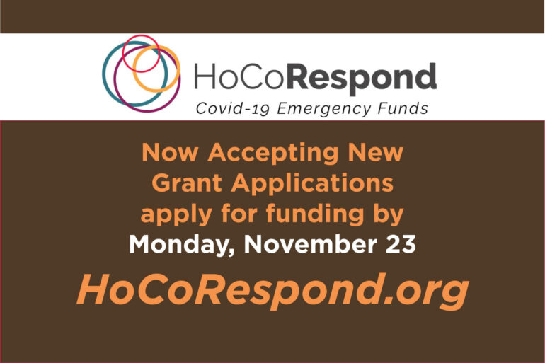 $200,000 HoCoRespond COVID-19 Emergency Funds  ​Now Available to Howard County Nonprofits