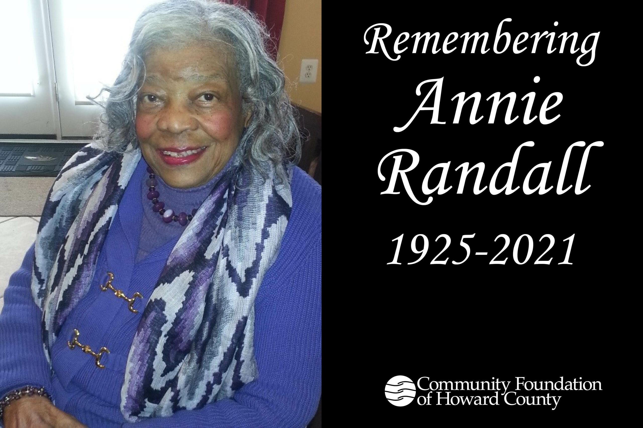 Annie T. Randall Memorial Fund